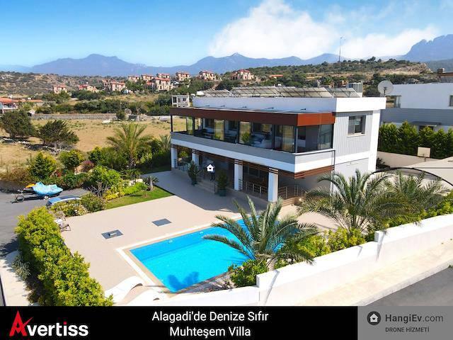 Girne Alagadi'de satılık bahçeli şömineli özel havuzlu villa - TEXT_photo 4