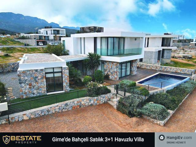 Girne Bahçeli'de satılık şömineli özel havuzlu 3+1 villa - TEXT_photo 1