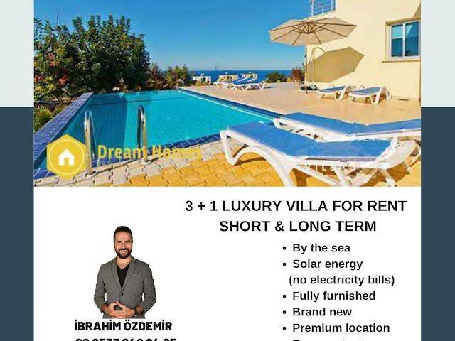 3+1 Luxury Vılla For Rent Short & Long Term