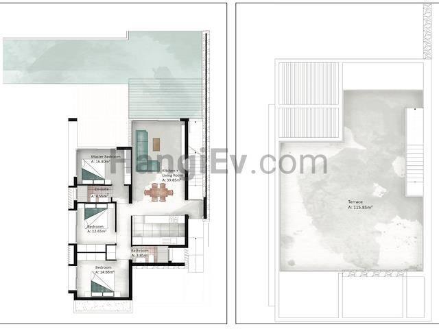 Esentepe'de satılık bahçeli özel havuzlu villa, 140 m² - TEXT_photo 9