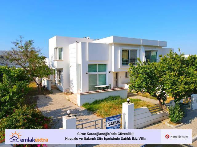 Girne Karaoğlanoğlu'da satılık havuzlu ikiz ev - TEXT_photo 1