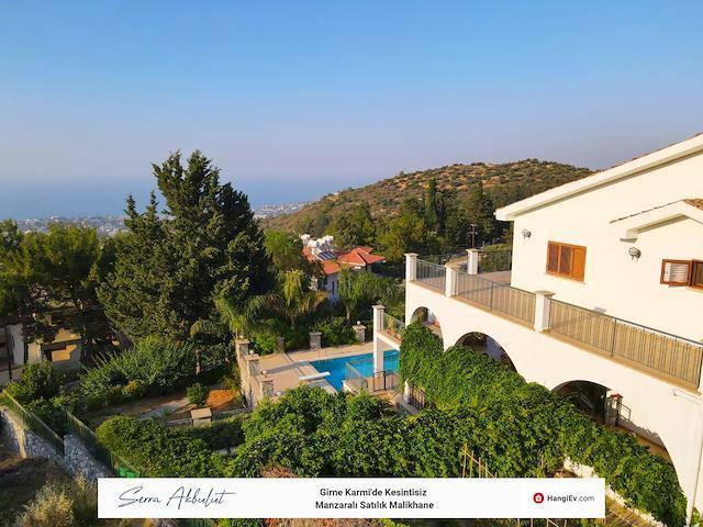 Girne Karmi'de satılık bahçeli şömineli özel havuzlu villa - TEXT_photo 8