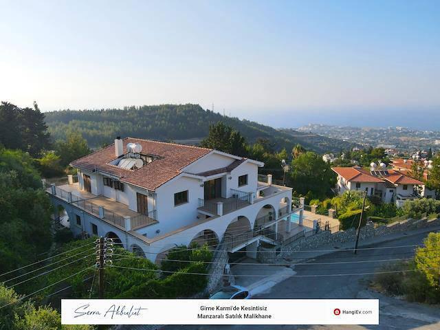 Girne Karmi'de satılık bahçeli şömineli özel havuzlu villa - TEXT_photo 5