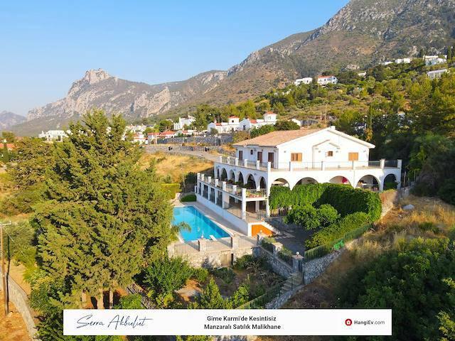 Girne Karmi'de satılık bahçeli şömineli özel havuzlu villa - TEXT_photo 3
