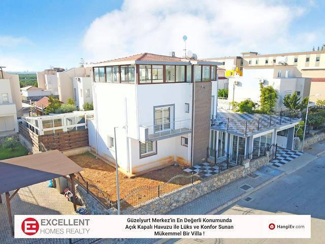 Güzelyurt Merkez'in En Değerli Konumunda & Açık-Kapalı Havuzu İle Lüks ve Konfor Sunan Mükemmel Bir Villa!