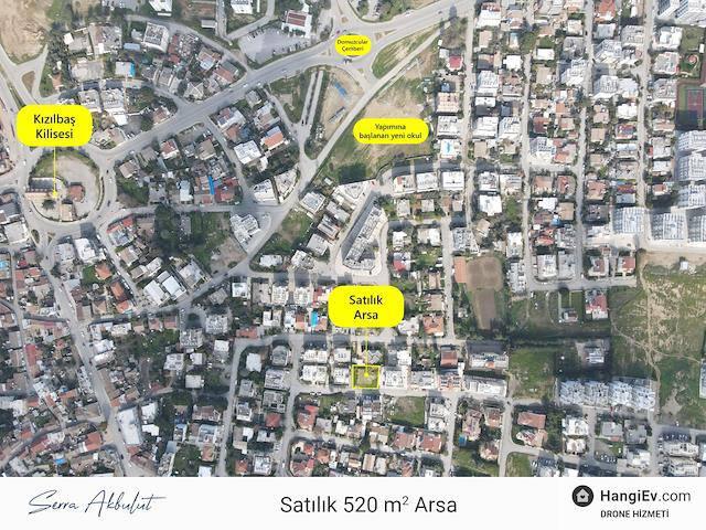 Lefkoşa Kızılbaş Bölgesinde Satılık 520 m² Apartmanlık Arsa