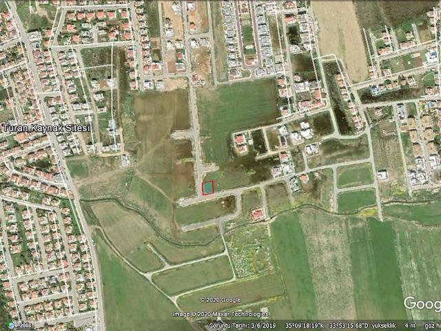 Mağusa Tuzla Bölgesinde 541 m² Satılık Köşe Arsa